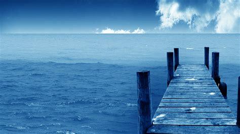 pier   blue sea hd wallpaper wallpaper studio