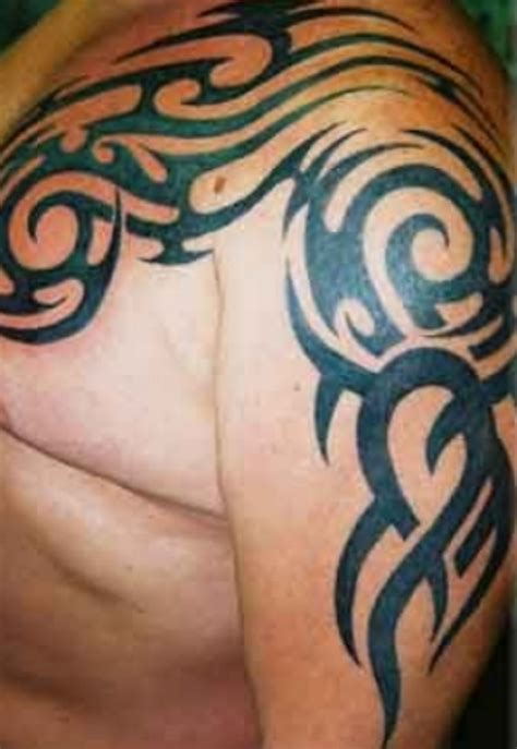 tribal tattoo on chest and shoulder 61 tribal shoulder tattoos