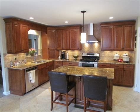 kitchen with l shaped island best l shaped kitchen with island railing stairs and