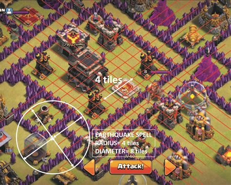 earthquake spell witch doctor understanding tiles and earthquake spell impact