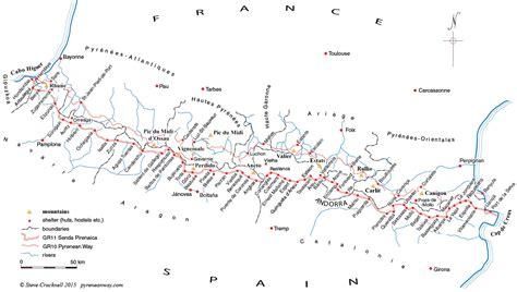 map of map of the senda pirenaica gr11 la senda pirenaica