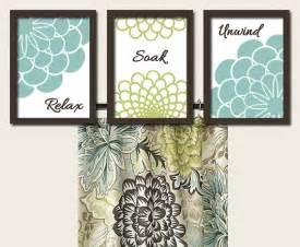 Seafoam green bathroom wall art canvas artwork dahlia flower set of 3