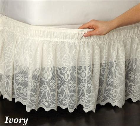 ivory bed skirt wrap around ivory lace bed skirt ruffle fits twin full