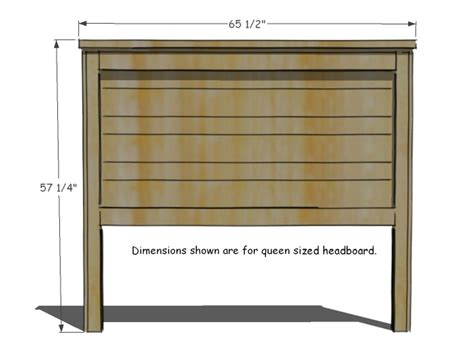 Headboard Dimensions by How To Build A Rustic Wood Headboard How Tos Diy