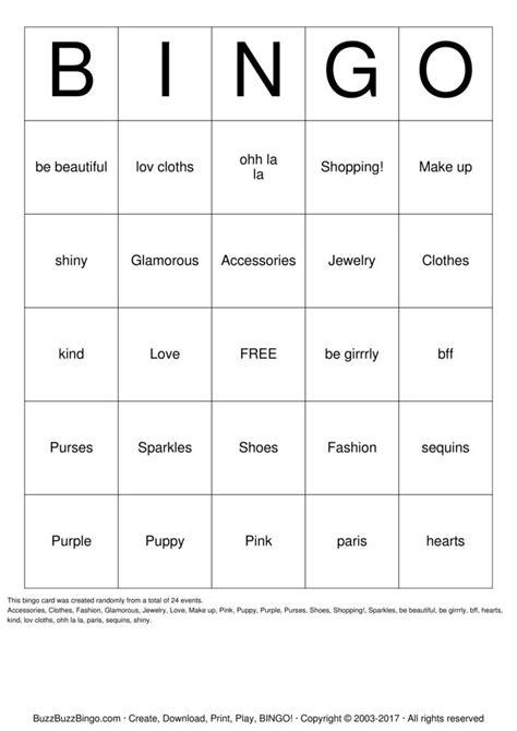make a bingo card make up bingo cards to print and customize