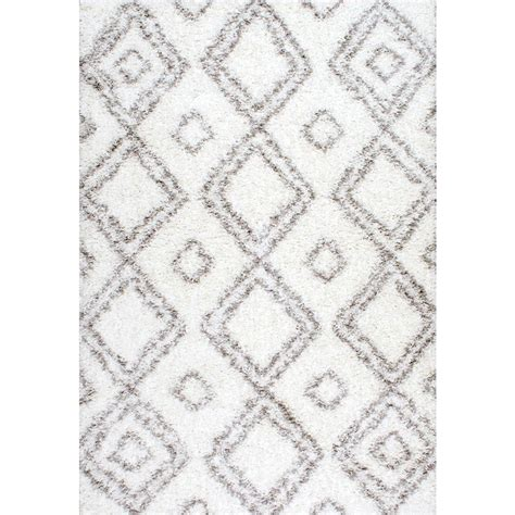 easy rugs nuloom iola easy shag white 8 ft x 10 ft area rug ozsg18a 8010 the home depot