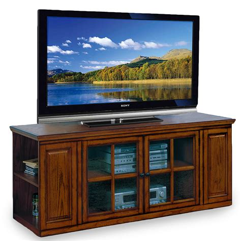 tv stands leick holliday tv stand 62 inch burnished oak kitchen dining