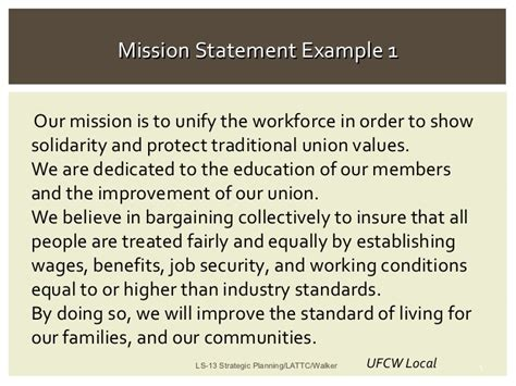 mission statement examples alisen berde