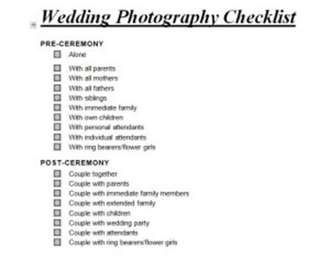 wedding photography checklist | wedding photography