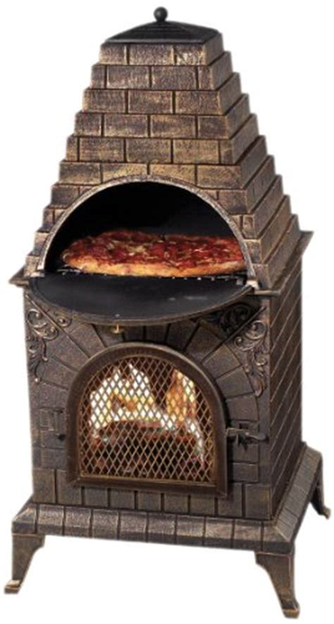 chiminea with pizza oven deeco dm 0039 ia c aztec cast iron pizza oven