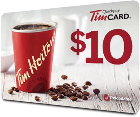 Tim Hortons Gift Card Balance - tim hortons gift of coffee receive a 10 timcard 174