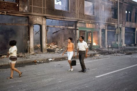 20 color photographs from the 1967 detroit riot vintage