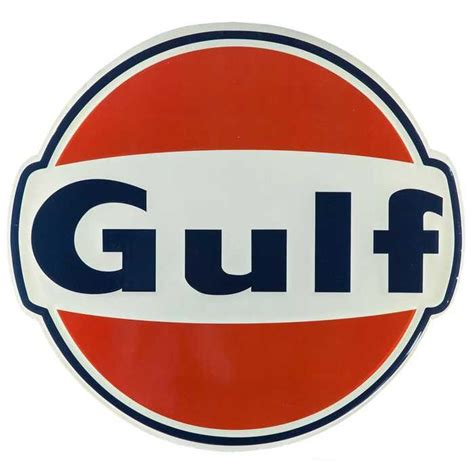 gulf car logo large vintage gulf embossed tin sign signs