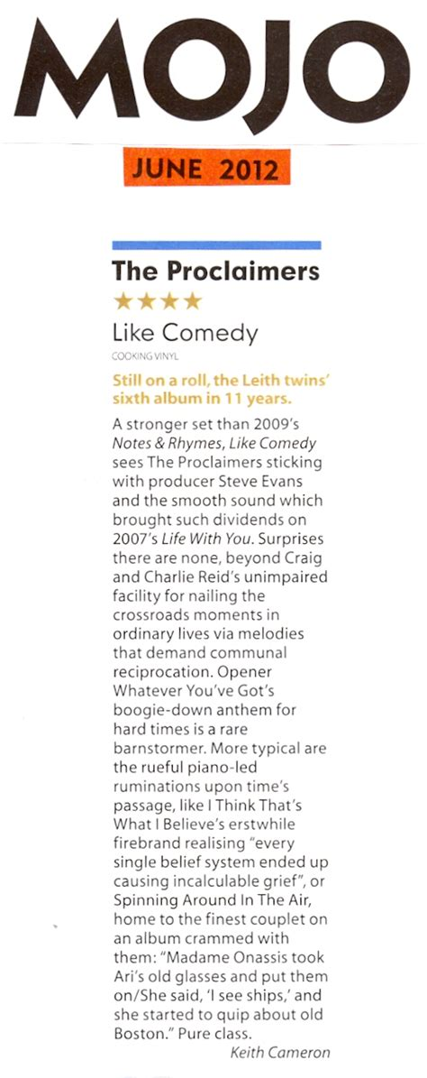 Review Mojo Cosmetics 4 by Mojo 4 Review Of Like Comedy The Proclaimers