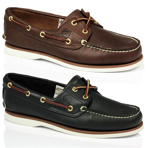 how to lace boat shoes mens timberland 74035 74036 classic leather 2 eye lace up