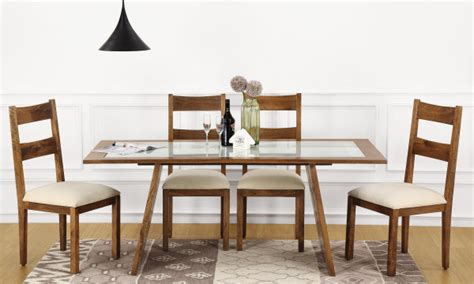 Wood Dinner Table Dining Tables Livspace