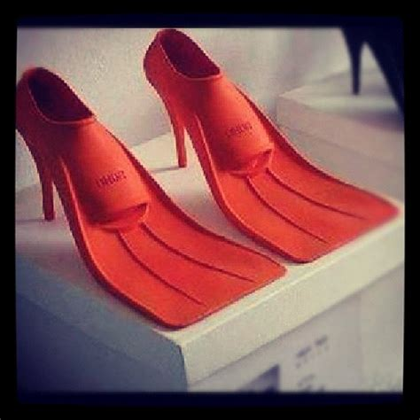 high heel scuba fins oh so practical for black tie at the floaties