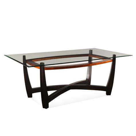 bassett mirror elation rectangular glass top dining table