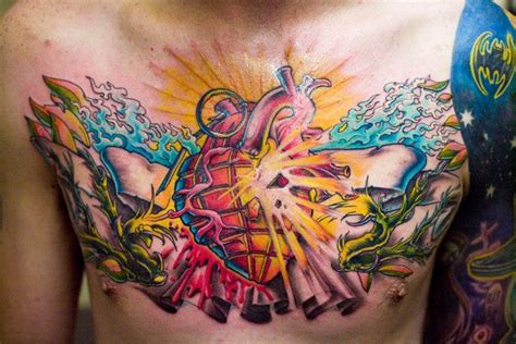 new school chest tattoo 8 best images about new school tattoos on pinterest