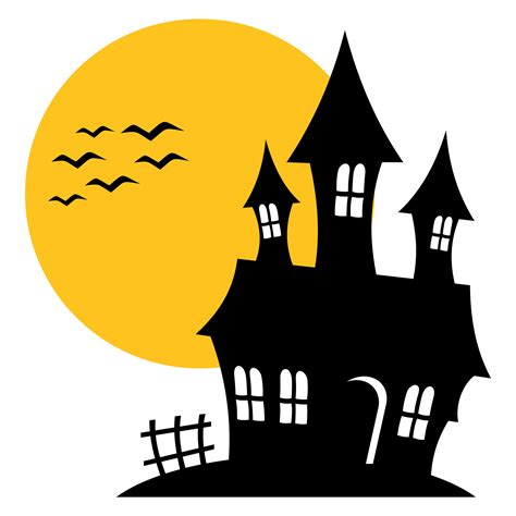 free haunted house music vector for free use haunted house silhouette