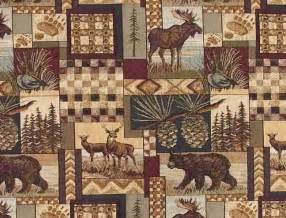 Lodge Style Upholstery Fabric by Rustic Lodge Fabric Wildlife Moose Deer