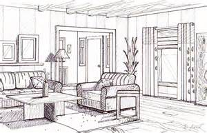 living room drawing dyan lord smith interior design phase 2 line drawing with texture