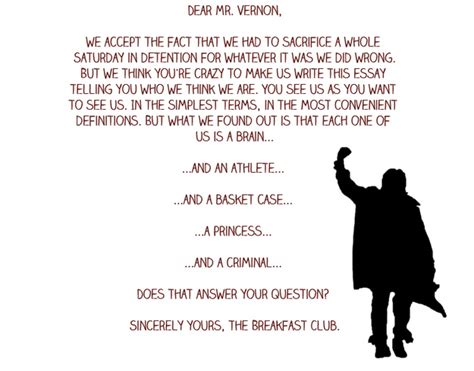 Closing Letter From The Breakfast Club 0547d1348d4c3e2f568cebfd0ee906e6 Jpg