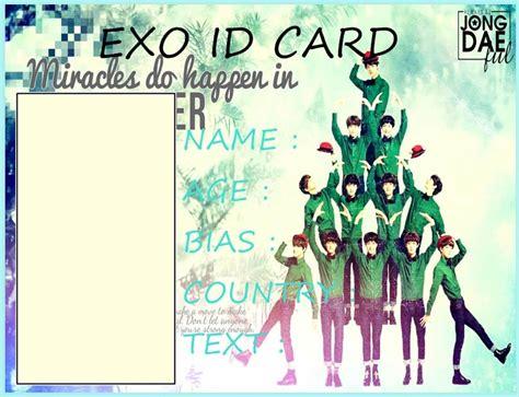 exo id card design exo id card sle by stellaseleria on deviantart