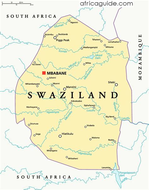 swaziland map swaziland guide
