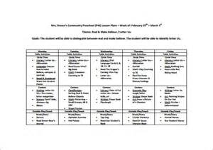 daycare lesson plan template preschool lesson plan template 11 free sle exle