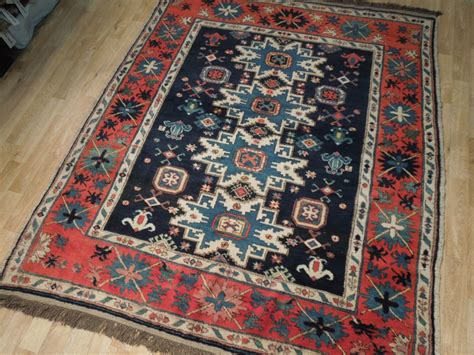 kazakhstan rugs 6 squarish navy blue kazakh rug wool carpet ebay