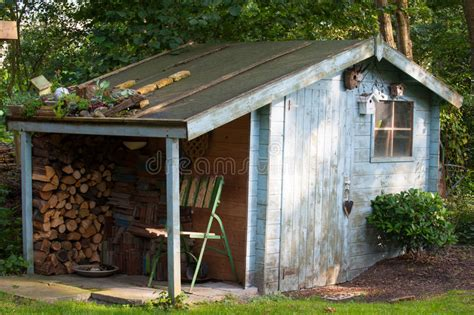 garden shed stock photo image  spring tool
