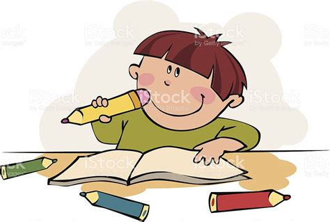 imagenes niños pensando animadas ni 241 o pensando illustracion libre de derechos 163925232
