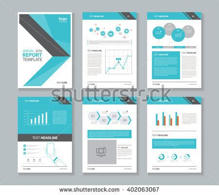 layout of a information report page layout company profile annual report stock vector