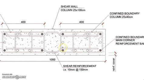 shear wall section shear wall reinforced concrete column reinforcement