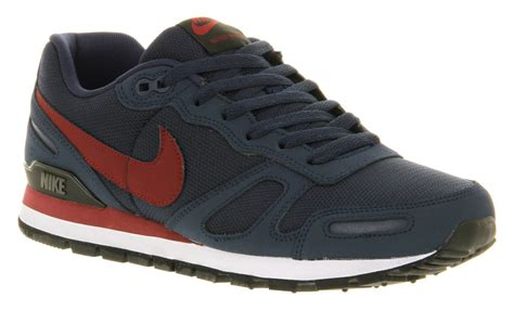 Nike Waffle Trainer nike air waffle trainer mdnt navyred in blue for lyst