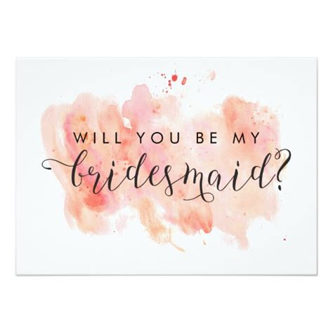 Bridesmaid Card Template Free by Will You Be My Bridesmaid Card Zazzle Co Uk