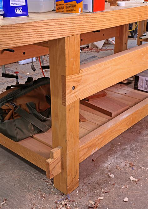 woodworking blogs 21st century workbench leg joints popular woodworking