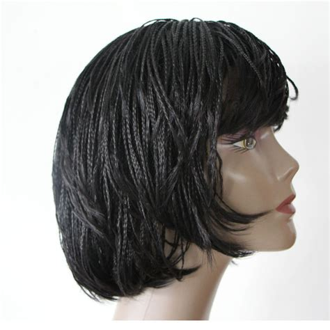 micro braided wigs for black women wigs for black women braided short micro box braid hair