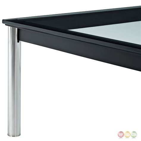 charles modern 47 quot rectangle glass top coffee table w