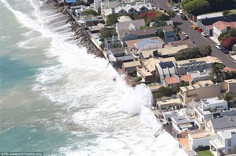 Berm House Plans celebrities malibu homes battered by huge waves daily