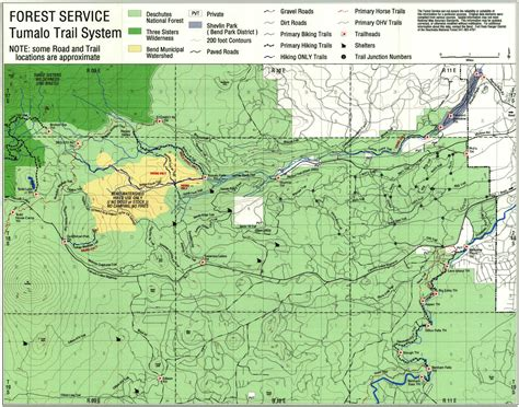 map of oregon forests deschutes national forest recreation trails map