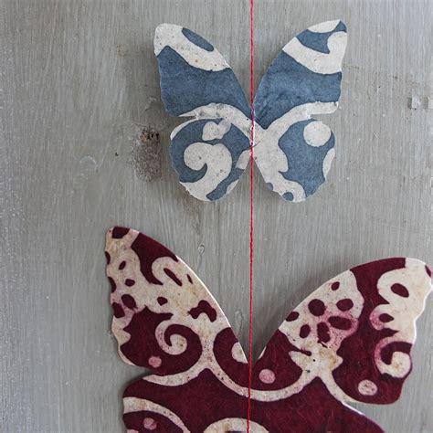 Handmade Paper Butterflies - handmade paper butterfly garland by discover attic