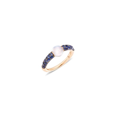 pomellato rings pomellato m ama non m ama moonstone and sapphire ring