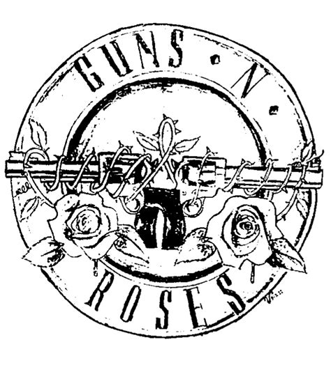 guns and roses coloring page guns n roses logo inkstamp edit by vrocketqueen on