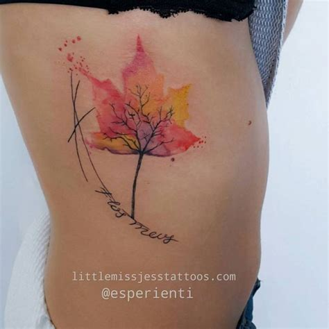 watercolor tattoos melbourne watercolor leaf tree by jess hannigan tattoos