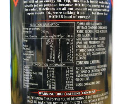 u energy drink ingredients rockstar energy drink ingredients