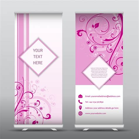 Wedding Banner Vector by Ornamental Pink Banners For Wedding Events Vector Free