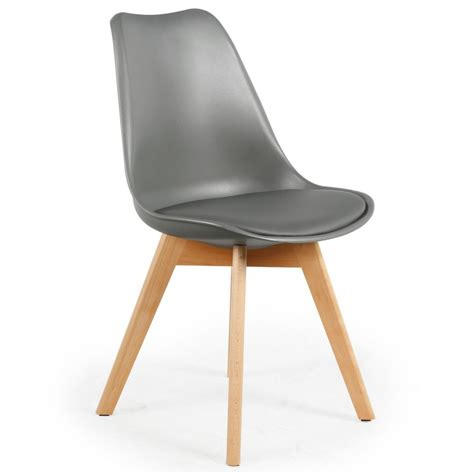 chaise simili cuir gris chaise scandinave cuir simili gris ericka lot de 4 pas cher scandinave deco