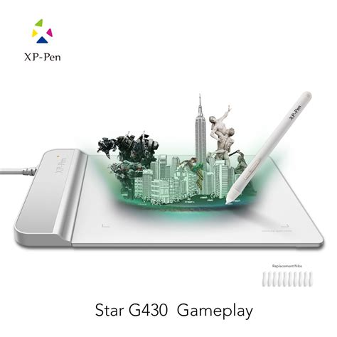 Xp Pen G430 Graphic Tablet For Drawing And Osu White xp pen g430 4x3 quot ultrathin graphic drawing tablet for osu